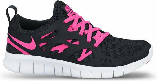 Nike Free Run 2 GS 477701-008 czarno-różowy