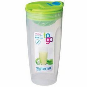 Sistema Shaker To Go pojemnik na koktajl, zielony