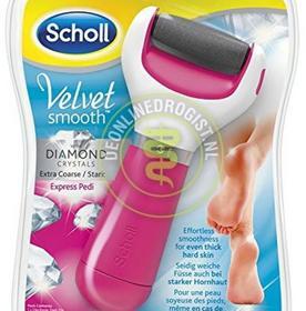 Scholl Velvet Smooth Express Pedi Extra Stark elektryczny pilnik z kryształkami różowy