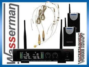 Voice Kraft Zestaw bezprzewodowych mikrofonów nagłownych VK 670B