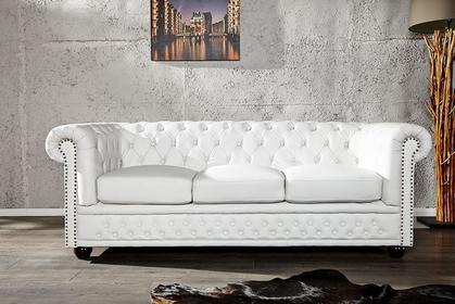 Interior Sofa Chester White 3-osobowe - biała 3-os.