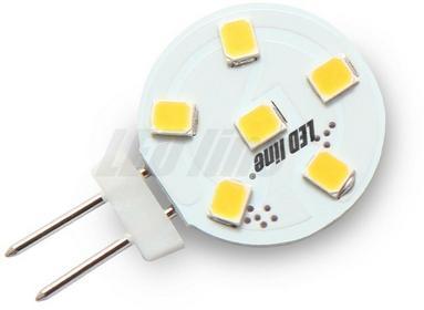 LED Line Żarówka LED LEDline G4 1,2W 6SMD 12V AC/DC TALERZ biała ciepła 241994