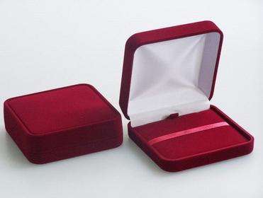 AnKa Biżuteria Pudełko na Prezent do biżuterii Welurowe Bordo