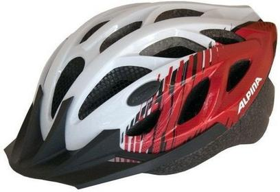 Alpina Tour 3 - Kask rowerowy, 58-63cm - White-Red (58-63cm)