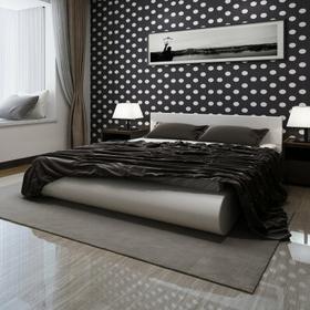 Łóżko białe ze skóry syntetycznej z materacem 140x200 cm