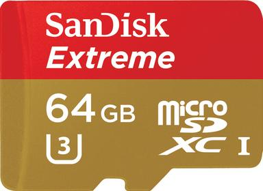 SanDisk Extreme microSDXC Class 10 U3 V30 64 GB