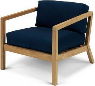 Skagerak Denmark VIRKELYST Krzesło - Fotel + Poducha Granatowa
