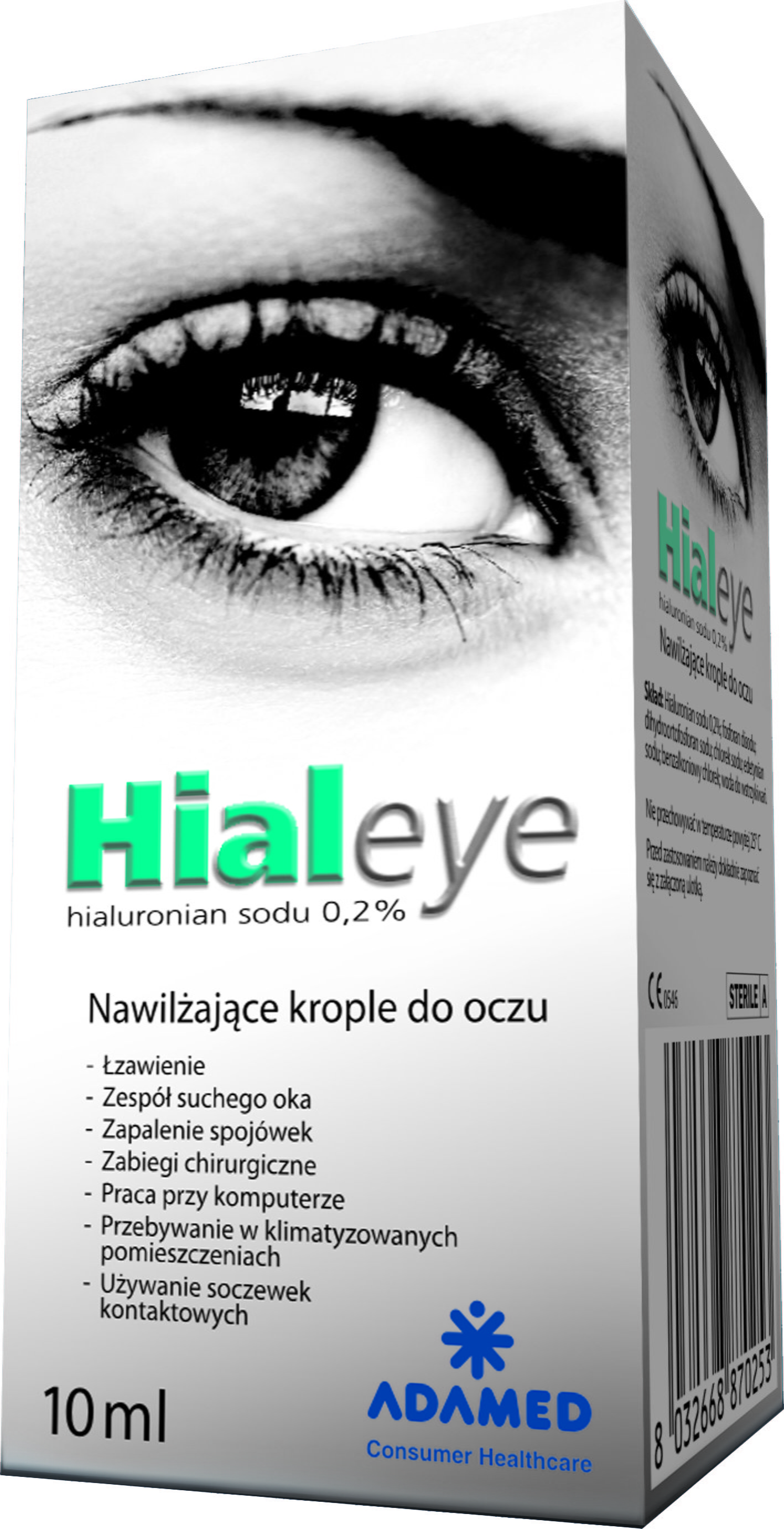Adamed Hialeye 0,2% 10 ml