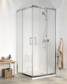 Cersanit CDOM07 90x90 profil chrom szkło transparentne + brodzik
