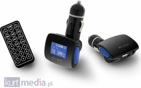 BLOW Transmiter FM USB SD/MMC niebieski