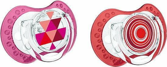 Lovi Smoczek silikonowy, dynamiczny ETNO 3-6 mies. 2 szt. - czerwony