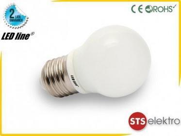 LED Line Żarówka LED COB E27 230V 4W zimna Kulka MINI 245213