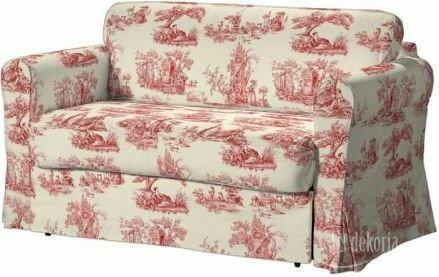Dekoria Pokrowiec na sofę Hagalund Avinon tło ecru, czerwone