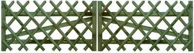 Brama z półwałków skośna 800 x 3000 mm