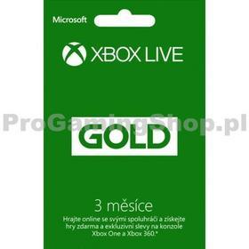 Microsoft Xbox Live GOLD 3 abonament miesięczny