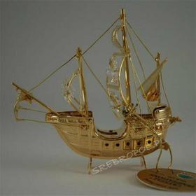 Statek z krysztalkami swarovskiego (122-0041H)