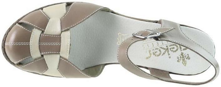 Rieker Beżowe sandały na obcasie 000109699594