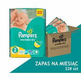 Pampers Active Baby 2 Mini Zapas na miesiąc 228 sztuk