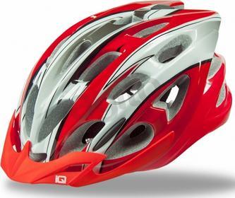 IQ Kask rowerowy HEDOX Czerwono-srebrny Rozm. XL (58-62)