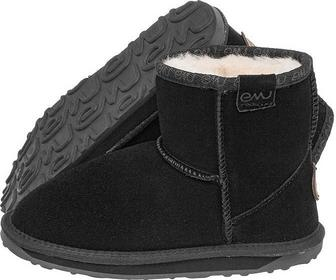 Amu Buty Australia Wallaby Mini Kids Black (EM52-i) K10103