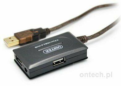 Unitek Y-261 wzmacniacz sygnału USB 2.010 m+ hub