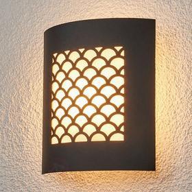 Lampenwelt Grafitowa lampa zewnętrzna MALOU