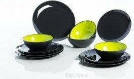 Gimex Zestaw obiadowy Greyline Lime Green - 12 elementów -