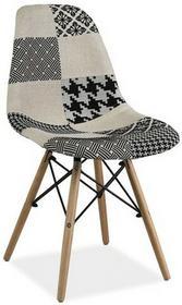 Signal Krzesło drewniane B SIMON PATCHWORK