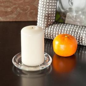 Dekoria Podstawka szklana na świeczkę fi 10,5cm