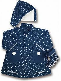 Playshoes Płaszcz przeciwdeszczowy kolor marine w kropki