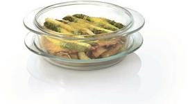 Berghoff Okrągłe naczynie do pieczenia z pokrywą 24 x 21 x 7 cm 1,5 l 1100020
