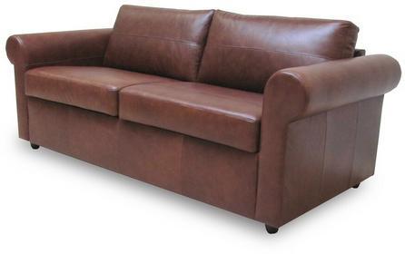 Klasyk Sofa rozkładana - skóra brąz SAN2VNTCHSTRF
