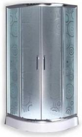 Durasan Parma Wave NK 80 80x80 szkło jasne wzór fala + brodzik + syfon
