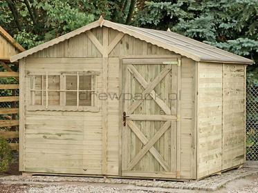Drewniany Domek narzędziowy Farmerski 300