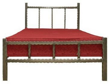 Grupa Lak System Łóżka metalowe Młodzieżowe łóżko metalowe 120x200 WZÓR 17 120