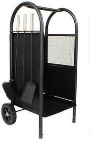 Kaminer wózek na drewno kominkowe z przyborami (PK002),