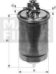 MANN Filtr paliwa -FILTER WK842/4 WK 842/4