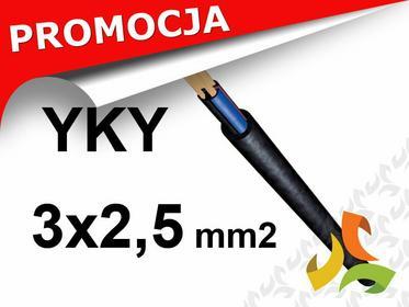 NKT/ELPAR/TFK/BITNER/ PRZEWÓD KABEL YKY 3x2,5mm2 ZIEMNY MIEDZIANY