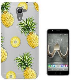 Wiko c01317 - Pineapple Collage Slices Pineapple Design U Feel Prime Fashion Trend Silikon Hülle Schutzhülle Schutzcase Gel Rubber Silicone Hülle