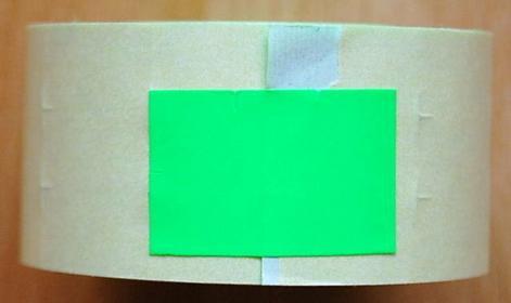 Rolka do metkownicy dwurzędowej - 2,6x1,6cm zielona prosta 00515