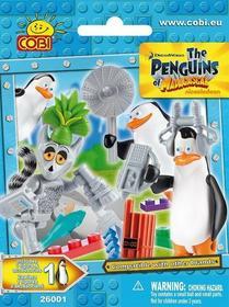 Cobi Pingwiny z Madagaskaru Figurka z akcesoriami 26001