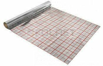 Folnet Folia aluminiowa pod ogrzewanie podłogowe 10mb + spinki