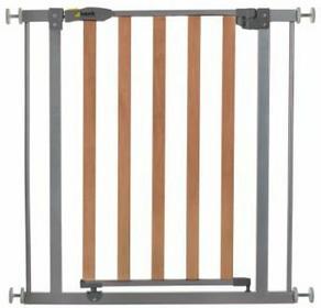 Hauck Bramka zabezpieczająca na drzwi Woodlock Safegate kolor srebrny 597033