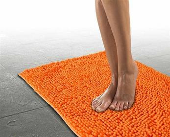 APM Produkt Dywanik łazienkowy Mikrofibra 60x90 Pomarańczowy NANO-TWISTED Dywani