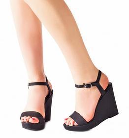 Czarne sandały Tonia czarny