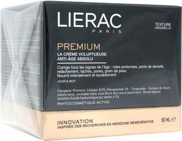 Lierac Premium La Creme Voluptueuse, Odżywczy krem przeciwstarzeniowy 50ml