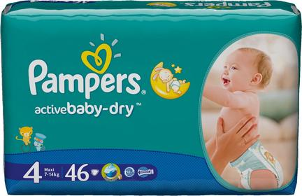 Pampers Active Baby Dry 4 Maxi 46 szt.