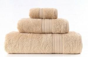 Greno Beżowy Ręcznik Kąpielowy Egipska Bawełna Egyptian 70x140