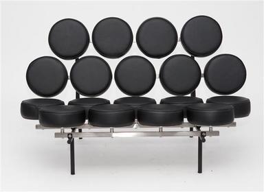 D2 Sofa Candy czarna skóra 2200000008299