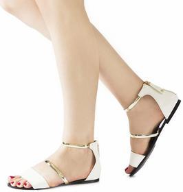 Białe sandały Kristín biały